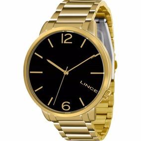 Relógio Lince Feminino Dourado Lrgj043l P2kx Original Nf