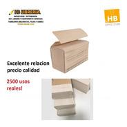 Toallas Intercaladas Para Mano Papel Beige 20x24 2500u Real