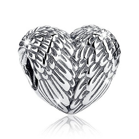 Bamoer Love Heart Charms De Plata Real Y Barata Para La Puls