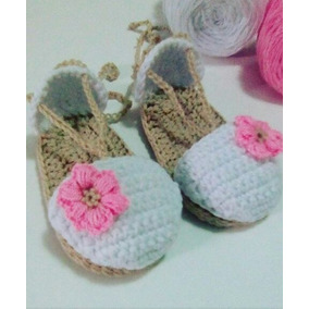 Sandalias Tejidas A Crochet Para Bebe