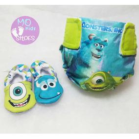Pañal Ecologico Y Zapatos Babucha Para Bebe Mo Kids