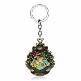 Chaveiro Pingente Harry Potter Brasão Hogwarts 4 Casas