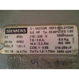 Motor Siemens 0,5 Hp 3450 Rpm