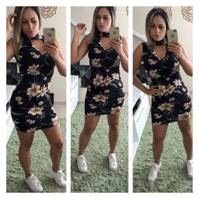 Vestido Estampado Floral Moda Verão 2018 Roupa Feminina