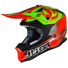 Casco Motocross Just1 Pro Rave Lime Talle S