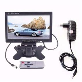 Tela Monitor Veicular Digital 7 Polegadas Lcd + Fonte 12v 2a