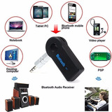 Receptor Transmisor Bluetooth Con Conexion Auxiliar 3.5 Mm