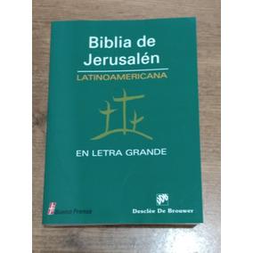 Biblia De Jerusalen Latinoam-letra Grande-portada Rustica