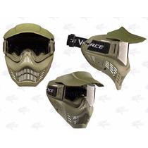 Careta Gotcha V-force Armor Verde Lente Antiflog Xtreme