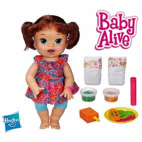 100% Original Boneca Baby Alive Comilona Hasbro Ing E Esp