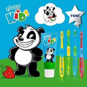 Pasta Dental Glister Kids Niños+4 Cepillos Dental Infantiles
