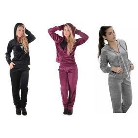 Conjunto Plush Feminino Calça E Blusa Frio Pelucia C/ Capuz!