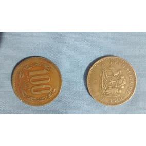 Lote De Monedas Chilenas De 50-100 Pesos