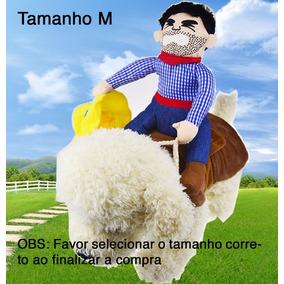 Fantasia Cowboy Peão P/ Cães Cachorro Mais Engraçada P Ao Gg