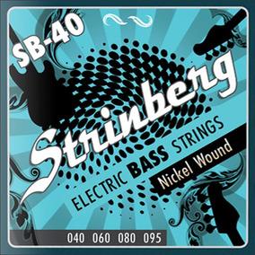 Encordoamento Baixo 4 Cordas Strinberg Sb40 - Loja Kadu Som
