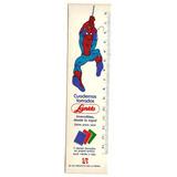 Antigua Regla Cartón Del Hombre Araña Escolar Laprida 1980s