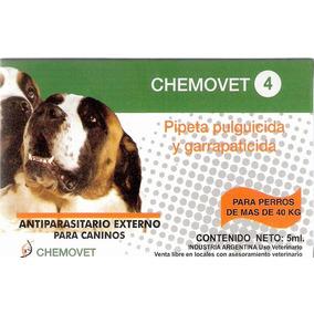 Pipeta Antipulgas Y Garrapatas Chemovet 4 (+ De 40 Kg) 10+1