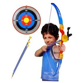Kit Arco Flecha Arqueiro Infantil Arma Laser Alvo Bel 490500