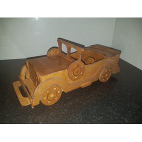 Carro Em Mdf Modelo Antigo (verniz Rustico)
