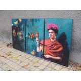 Cuadros Tripticos Modernos Frida Kahlo - Arte - Decoración