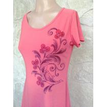 Vestido Seda Fria Con Estampado De Flores!!!!