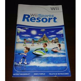 Manual Original Del Juego Wii Sports Resort - Nintendo Wii