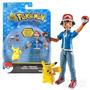 Pokemon Ash & Pikachu Con Pokedex & Pokeball Tomy Nuevo !!