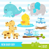 Kit Imprimible Nuevo Bebe Nene Baby Shower 4 Imagenes Clipar