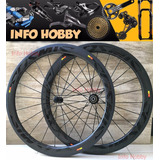 Rodas De Carbono Powerway R13 3k Tubular 50mm Speed Triathlo