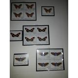 Estampillas Mariposas Cuadritos,en Hojas,fila Delia