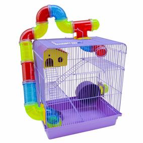 Gaiola Hamster Chinês 3 Andares Labirinto Luxo