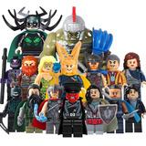 Set De 16 Fig Hela Hulk Thor Ragnarok Compatible Bloques