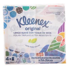 Lenço Suave Com Toque De Seda Kleenex Original 4un