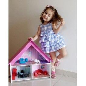 Brinquedo Criança | Casa Boneca Portátil Grande | Mobiliada