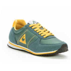 Zapatilla Le Coq Sportif Bolivar Br Nylon-green/yellow Hombr