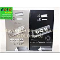Ocb X 25 Unid Papel Papelillo Sedas Negro Premium O Xpert