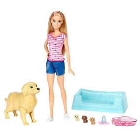 Boneca Barbie Família - Filhotinhos Recém-nascidos Fbn17