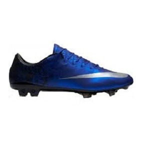 Tacos Nike De Futbol Modelo Mercuri Azul Oscuro Con Gris