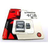 Cartao De Memoria Kingston Micro Sdc4 4gb Com Adaptador Sd