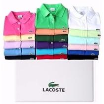 Kit 3 Camisas Camisetas Lacost Gola Polo P M G Gg