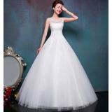 Vestido De Noiva Renda Bordado Princesa Com Veu Luva Saiote