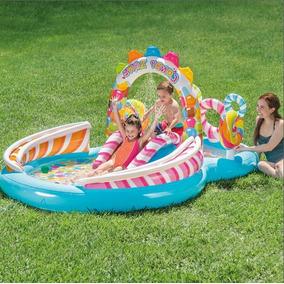 Piscina Inflável Infantil Playground Candy Zone 206 L Intex