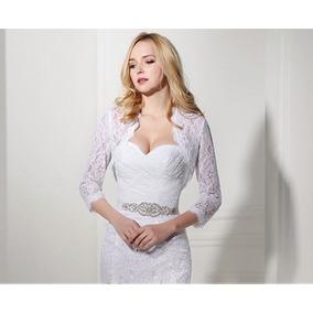 Hermoso Vestido De Novia Studio Novias Modelo A1 Con Bolero