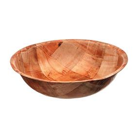 Wsb-14 Bowl Plato Hondo Ensaladas Sushi Postre Madera 35 Cm