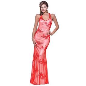 Vestido Vip Largo Egresada Fiesta Casamiento Rojo Bajada