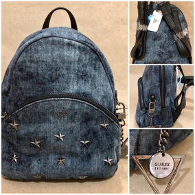 Bolsa Mochila Guess Bradyn Denim Backpack Original