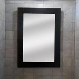 Espejo Marco Madera Wengue 50x70 Decoración Habitación Baño