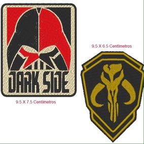 2 Parches Star Wars Darth Vader Y Mandalorian Con/sin Termoa
