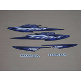 Kit Adesivos Honda Cg Titan 125 Kse 2003 Azul