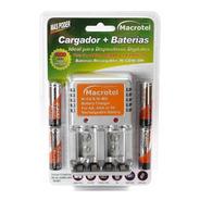 Cargador Macrotel Aa/aaa/batería +4 Pilas Aa 2300mah